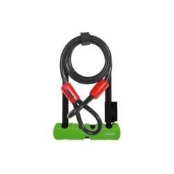 ABUS Antivol ULTRA MINI 410 + Cable 120 cm Vert Noir