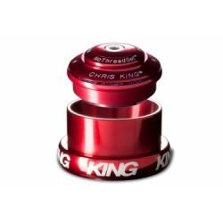 CHRIS KING Jeu de Direction INSET 3 Haut Semi-Intégré Bas Externe Conique Rouge