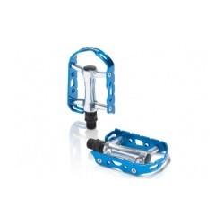 XLC Paire de Pédales PD-M15 Argent/Bleu