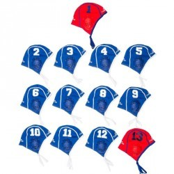 Lot 13 bonnets Water Polo adulte entrainement bleu