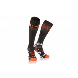 Paire de chaussettes de compression Compressport Full Socks V2.1 Noir