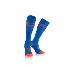 Paire de chaussettes de compression Compressport Full Socks V2.1 Bleu