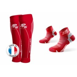 BV SPORT Pack BOOSTER ELITE + Socquettes Pointure 40-45 Rouge