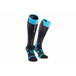 Paire de Chaussettes de compression Compressport Full Socks Ultralight Noir Bleu