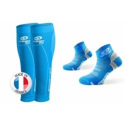 BV SPORT Pack BOOSTER ELITE + Socquettes Pointure 37-41 Bleu Ciel