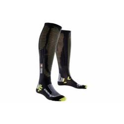 X-BIONIC Chaussettes de Compression ACCUMULATOR PERFORMANCE Noir Vert