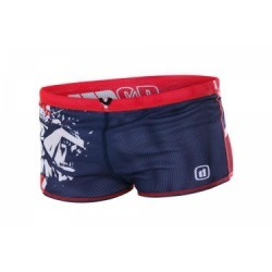 Z3R0D Maillot de Bain DRAGSHORT Great Britain Bleu Rouge