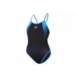 Z3R0D Maillot de Bain 1 Pièce GRAPHIC Noir Bleu Femme
