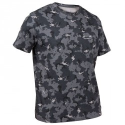 T shirt steppe 100 manches courtes camouflage gris