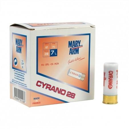 Cartouche calibre 12 Cyrano 28g x250 plomb 7,5