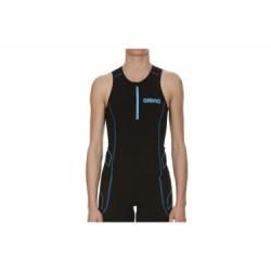 Haut de Triathlon Femme ARENA TRITOP ST Noir Bleu