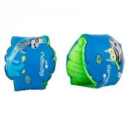"Brassards gonflables bleus enfants imprimé ""ZEBRO"" 11-30 kg"