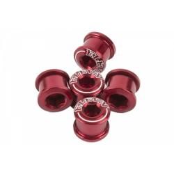 Pack de 5 Vis Cheminées ELEVN DOUBLE KEY 8.5 x 4mm Rouge