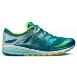 Chaussures de Running Femme Saucony ZEALOT ISO 2 Bleu / Vert