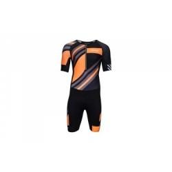 Combinaison Trifonction ZOOT ULTRA TRI AERO SKINSUIT Noir Orange Gris