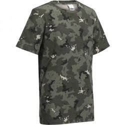 T-Shirt Steppe 100 junior camouflage island vert