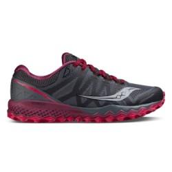 Chaussures de Trail Femme Saucony Peregrine 7 Gris / Violet / Rose
