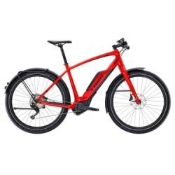 Vélo de Ville Électrique Trek Super Commuter + 8 Shimano Deore XT 11V Rouge 2018