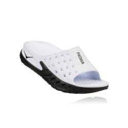 Chaussure de Récupération Hoka Ora Recovery Slide Noir Blanc Femme
