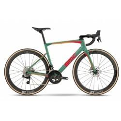 Vélo de Route BMC Roadmachine RM01 Sram Red eTap HRD 2018 Vert / Rouge / Orange