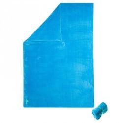 Serviette microfibre ultra douce bleue cina taille L 80 x 130 cm