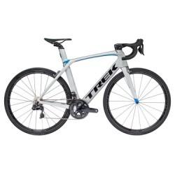 Vélo de Route Trek Madone 9.5 Shimano Ultegra Di2 11V 2018 Argent / Bleu