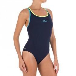 Maillot de bain de natation une pièce femme Kamiye bleu jaune