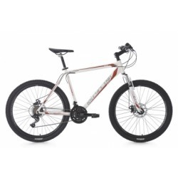 VTT semi-rigide 26´´ Sharp blanc-rouge TC 51 cm KS Cycling