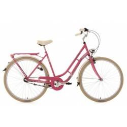 Vélo de ville dame 28´´ Casino 3 vitesses rose vif TC 54 cm KS Cycling