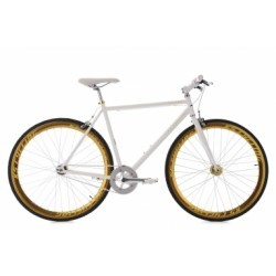 Vélo fitness 28´´ Pegado blanc-doré KS Cycling