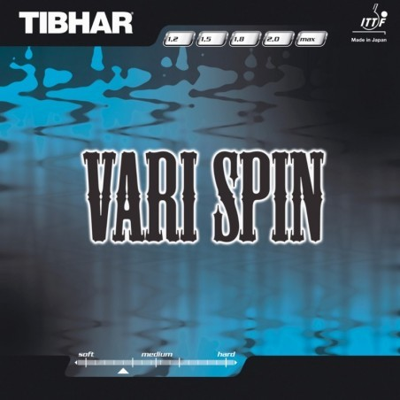 REVETEMENT DE TENNIS DE TABLE TIBHAR VARI SPIN