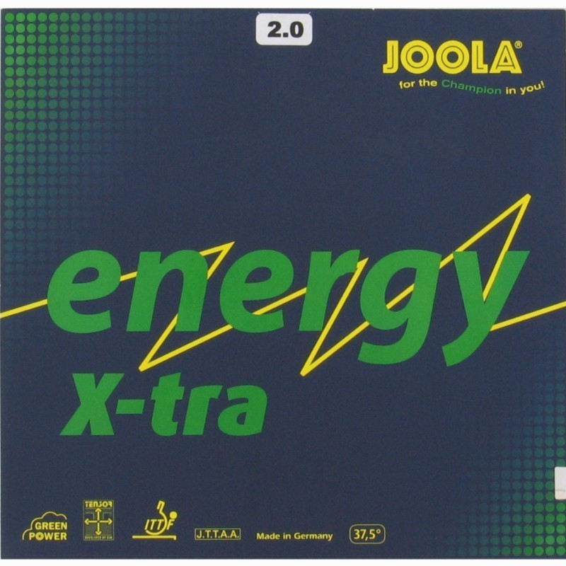 Avis et test sur rev tement de tennis de table joola energy x tra joola - Revetement raquette tennis de table ...