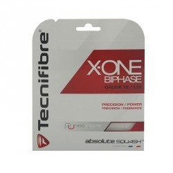 CORDAGE DE SQUASH X-ONE BIPHASE 1,18 ROUGE