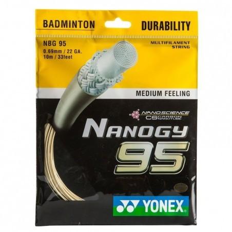 CORDAGE DE BADMINTON NANOGY 95 BLANC