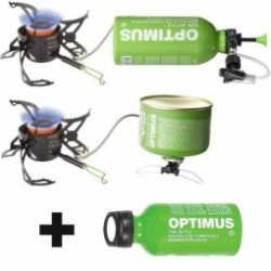 Réchaud multi-combustibles et bidon Fuel Optimus Polaris Optifuel