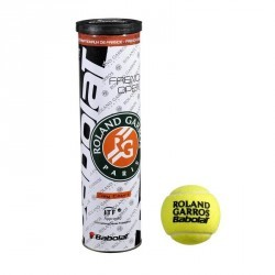 BALLES DE TENNIS FRENCH OPEN CLAY COURT LOT DE 4 JAUNE
