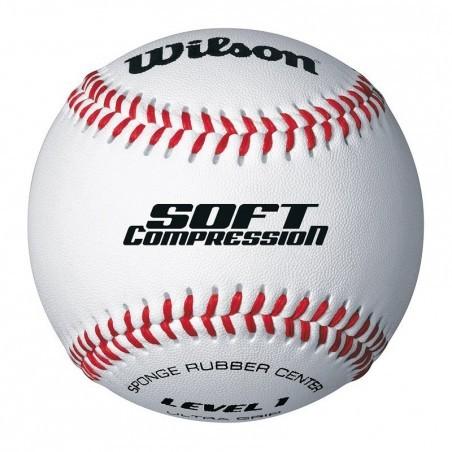 Balle de baseball Soft Compression blanc