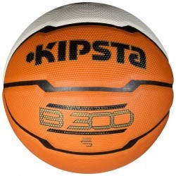 Ballon Basketball enfant B300 taille 5 orange blanc