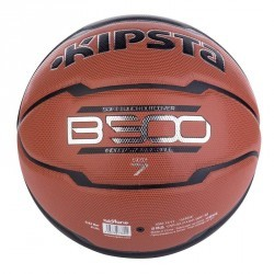 Ballon basketball adulte B500 taille 7 marron noir