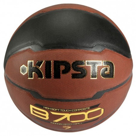 Ballon basketball adulte B700 taille 7 FIBA marron noir