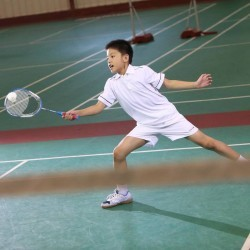 SHORT JUNIOR ESSENTIEL BLANC BADMINTON TENNIS PING PONG PADEL SQUASH