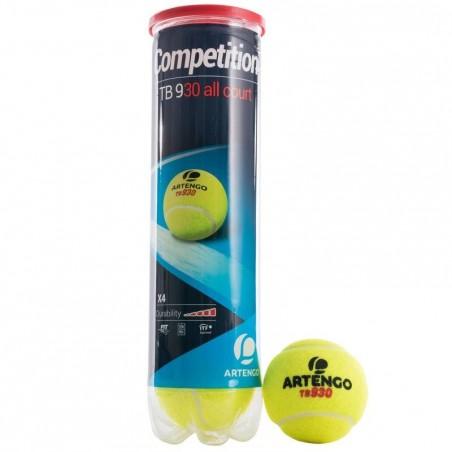 BALLE DE TENNIS COMPETITION TB930 JAUNE