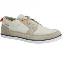 Chaussures bateau enfant KOSTALDE beige/orange