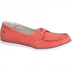 Chaussures bateau cuir femme KOSTALDE rose