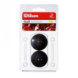 Balle de squash Wilson Staff double point jaune.