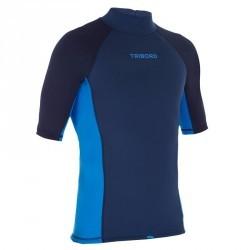 tee shirt anti UV surf top 900 Thermique Manches Courtes Homme Bleu
