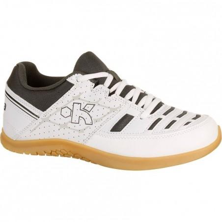 Chaussures de volley-ball enfant V 100 blanches et noires