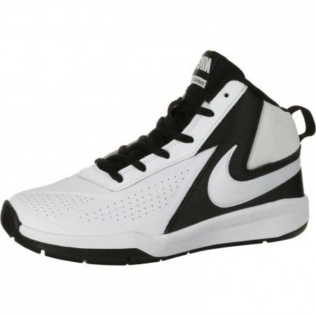Chaussure Basketball Team Hustle blanc noir