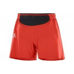 Short 2 en 1 Salomon Sense Pro Rouge