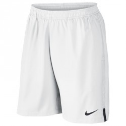 SHORT DE TENNIS BADMINTON TENNIS DE TABLE PADEL SQUASH HOMME COURT BLANC